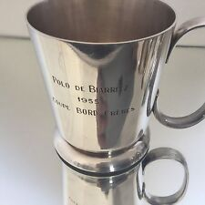 Coupe Trophée Polo Club Biarritz 1955 Métal Argenté Orfèvre Bord Rare Trophy
