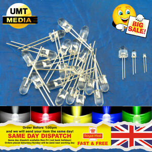 Ultra Bright LEDs 3mm/5mm/10mm Red/Blue/Green/White/Yellow LED Clear Bulb