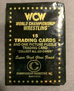 1991 WCW WRESTLING UNOPENED PACK - 15 Cards/1 puzzle card - RARE