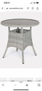 Kettler Bistro Table White Wash