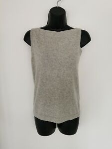 LADIES 100% CASHMERE GREY SLEEVELESS JUMPER/VEST FROM NEXT. SMALL (UK 8)