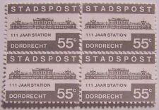 Stadspost Dordrecht 1984 - Blok van 4 Station 111 jaar