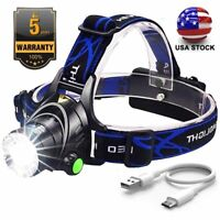 Rechargeable Tactical 350000LM T6 LED Headlamp 18*65*0 Headlight Head Torch Lamp