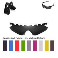 Walleva Lenses and Black Nosepads for Oakley M Frame Heater - Multiple Options