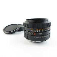 Für Pentax K Auto Revuenon 1:1.4 50mm MC Objektiv lens + caps