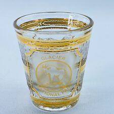 Vintage Culver Shotglass Glacier National Park 22K Gold Trim