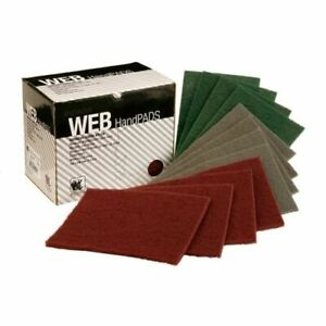 INDASA NYLON WEB ABRASIVE HAND PADS 150mm x 230mm - METAL, WOOD, FIBRE GLASS