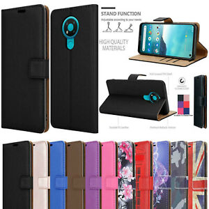 Premium Leather New Wallet Flip Case Cover For All Nokia Mobiles Phone UK Seller