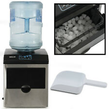 Portable Water Dispenser w/ Built-In Ice Maker Machine Counter Stainless Steel