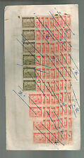 1937 China Revenue Receipt cover Lots of stamps