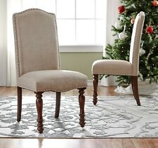 Traditional Dining Chair Set of 2 Formal Side Chairs Upholstered Seat Furniture