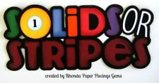 Solid Stripes Pool paper piecing title Premade Scrapbook Pages album by Rhonda