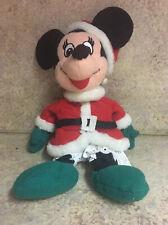 DISNEY Minnie Mouse Mrs. Santa Claus Bean Bag Plush