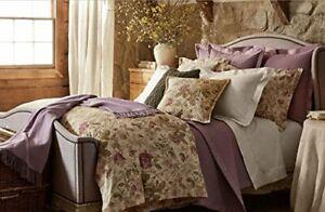 NIP Ralph Lauren 2pc TWIN Quilted Coverlet & Pillow Sham DUCHESS LAVENDER Cotton