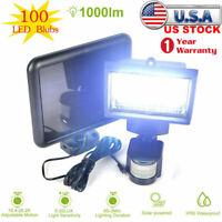 Garden 100 LED Solar Powerd  Light PIR Motion Sensor Security Flood Lamp Outdoor