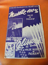 Partition Musette 100 % Valse de Panam Louis Corchia Glissons