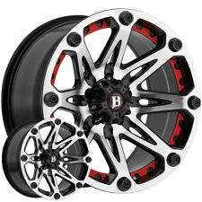 "18"" Inch Ballistic 814 Jester 18x9 6x5.5"" +0mm Black/Machined Wheel Rim"
