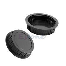 Rear Lens Snap Cover Protector+Camera Body Front Cap for Canon DSLR SLR Lens New