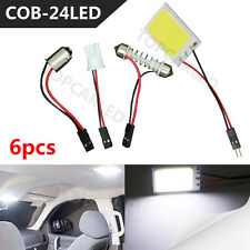 6pcs White 24COB LED Panel Light For Car Interior Door Trunk Map Dome Bulb 12v