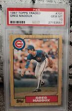 1987 Topps Traded Greg Maddux Rookie Baseball Card #70T PSA 10 GEM MINT