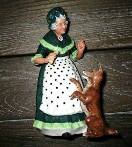 Royal Doulton OLD MOTHER HUBBARD Nursery Rhyme Figurine HN2314 England EUC