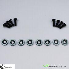 [Logo, Grey] M6 Anodized Aluminium Fender Washer Kit for Engine - Black Bolts