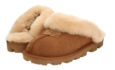NIB UGG Women's Coquette Sheepskin Slippers in Chestnut