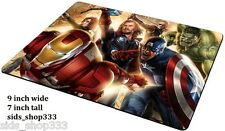 AVENGERS ASSEMBLE ! Marvel comics Anti slip optical COMPUTER MOUSE PAD 9 X 7inch