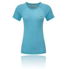 Camiseta de deporte de mujer azul de poliéster