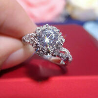 Vintage Engagement Ring For Women's 1.50 Ct Round Cut Diamond 14k White Gold FN