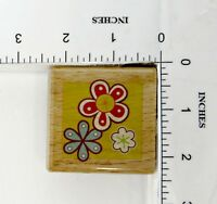 Wood Block Rubber Stamp:  Flowers, Spring