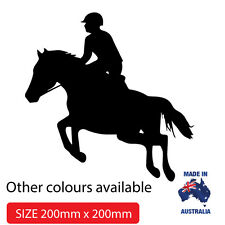 SHOW JUMPING  DECAL FOR CAR, UTE, 4WD, HORSE FLOAT Popular STICKER