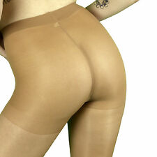 Leggs Sheer Energy Shiny Glossy Control Top Pantyhose Q+ Size Suntan 90982