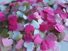 1300 confettis coeur or blanc rose clair et fushia Mariage Baby-shower Fêtes