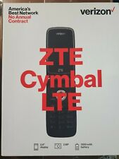 BRAND NEW Verizon ZTE Cymbal LTE Flip Cell Phone 4G LTE