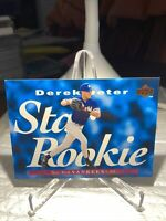 YANKEES Derek Jeter 1995 UD #225 STAR ROOKIE RC  PWE Tracked Dinged