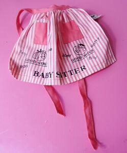 Vintage Barbie Barbie Baby-Sits Apron MINT