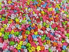 100 pcs colorful color star buttons size 3 mm
