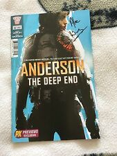 2000ad One Shot Comic Signed Judge Dredd Anderson The Deep End Alec Worley