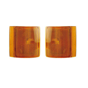 Lower Side Marker Reflectors Pair Set for 94-02 Chevy/GMC CK /94-99 Suburban
