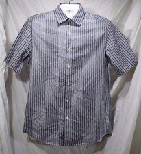 Claiborne Men's Small Intense Purple Stripe Short Sleeve Button Up Shirt New A-9