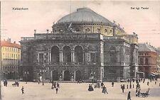 KOBENHAVN DENMARK DANEMARK DET KGL. TEATER POSTCARD 1906