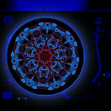 Portable Products Dj Turntable Slipmat 12 inch Glow under Blacklight - Tribute