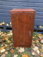 Vintage Darkwood Bedside Cabinet Mid Century Side Pot Cupboard Retro