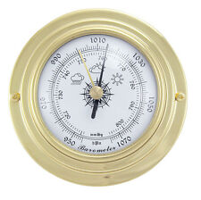 Maritimes Barometer in Messing - Boot Schiff Yacht Instrument - sc-9401