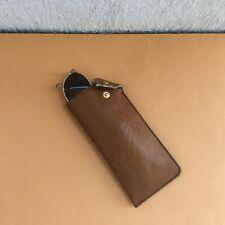 Vintage Brown Leather Eyeglass Case