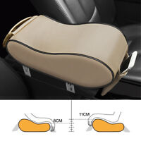 Center Armrest Holder Box  Beige Leather Universal For Car Truck PU Leather