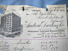 ANDREW DARLING, WINNIPEG, CANADA, 1912, CPR RAIL, Beautiful Vintage Letter Head