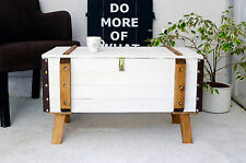 Shabby Chic Vintage Frachtkiste Holzkiste Couchtisch Coffeetable Truhe 1