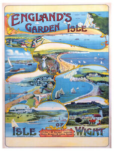 Vintage Isle of Wight - England's Garden Isle  Railway Travel Poster A1/A2/A3/A4